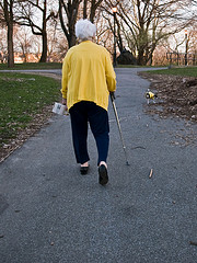 walker with cane